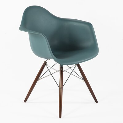 The Mid-Century Eiffel Armchair Color: Navy Green