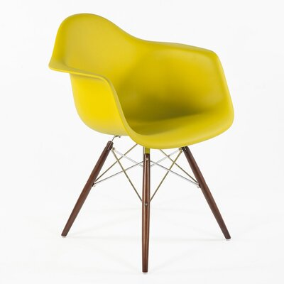 The Mid Century Eiffel Armchair Finish: Olive