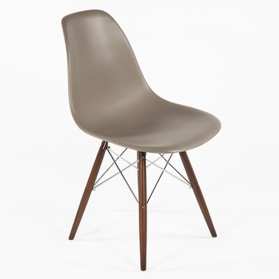 Side Chair Finish: Walnut, Color: Grey