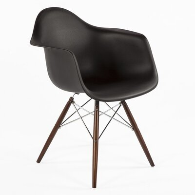 The Mid Century Eiffel Armchair Color: Black