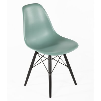 Side Chair Finish: Black, Color: Ocean Blue
