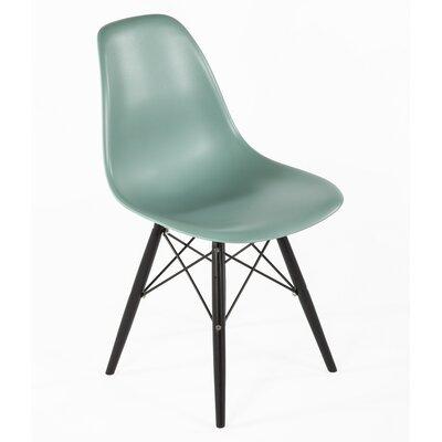 Side Chair Finish: Black, Color: Ocean Blue