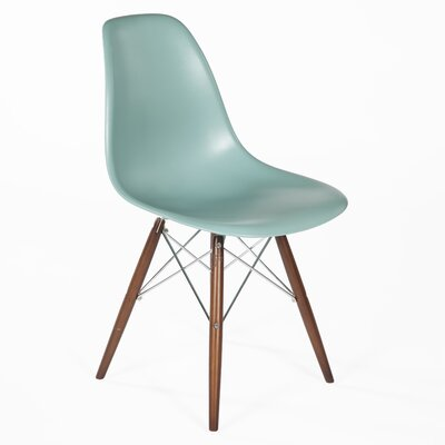 Side Chair Finish: Walnut, Color: Green