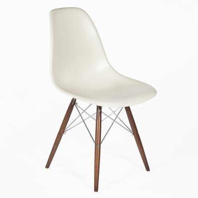 Side Chair Finish: Walnut, Color: Almond
