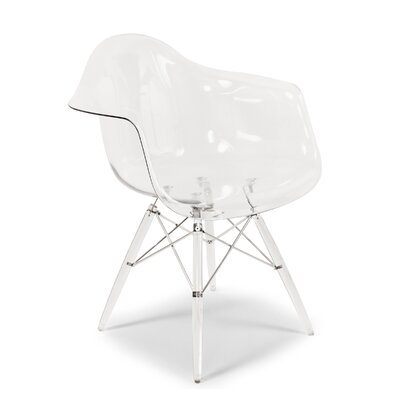 The Mid Century Eiffel Side Chair Upholstery: Clear