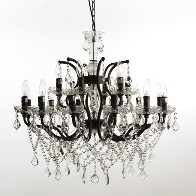 The Lillian 18-Light Crystal Chandelier