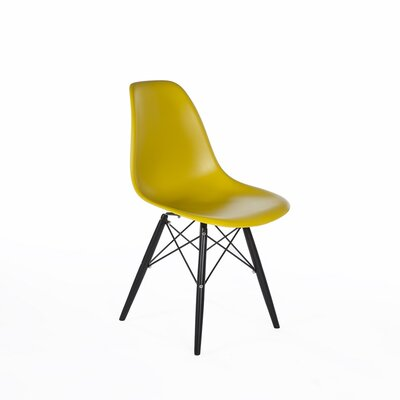 Mid-Century Solid Wood Dining Chair Upholstery: Olive