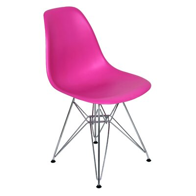 Radke Eiffel Side Chair Upholstery: Dark Pink