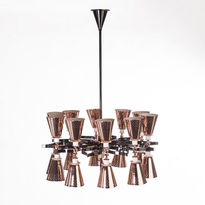 20-Light Shaded Chandelier