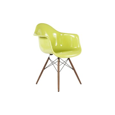 The Mid Century Eiffel Armchair Finish: Green