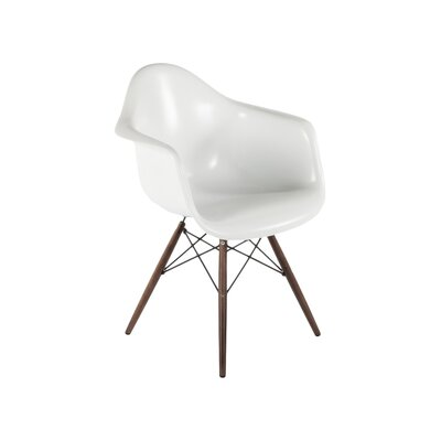The Mid Century Eiffel Armchair Finish: White / Black