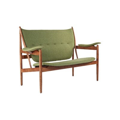 The Sterling Loveseat Upholstery: Green