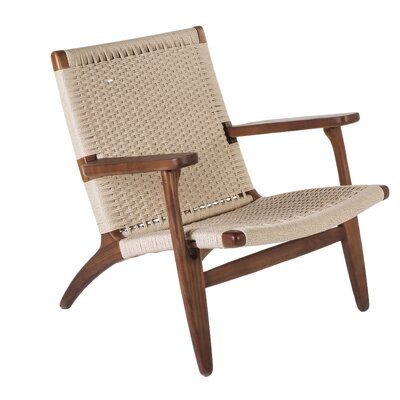 The Sungar Arm Chair Upholstery: Walnut