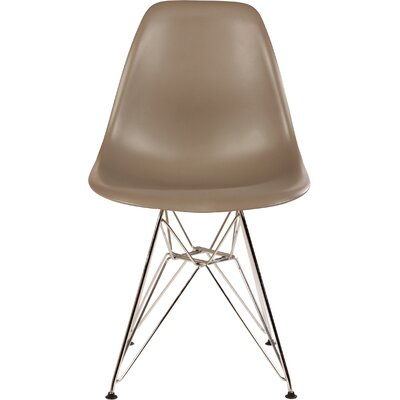 The Mid Century Eiffel Side Chair Upholstery: Grey