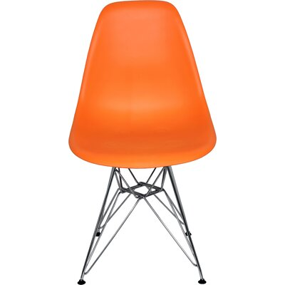 The Mid Century Eiffel Side Chair Upholstery: Orange