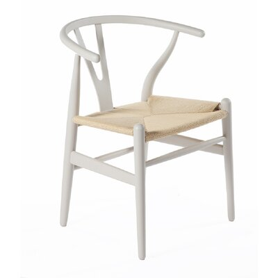 Y-Chair Solid Wood Dining Chair Finish: Warm Gray