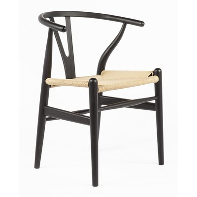 Y-Chair Solid Wood Dining Chair Finish: Black/Natural