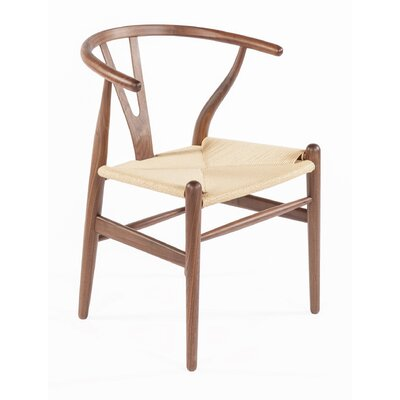 Y-Chair Solid Wood Dining Chair Finish: Walnut