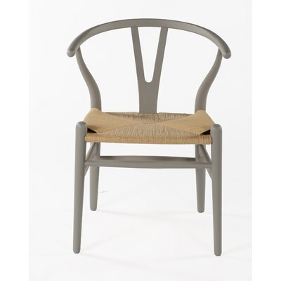 Wishbone Solid Wood Dining Chair Finish: Cool Gray