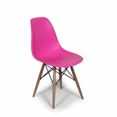 Coleford Solid Wood Dining Chair Upholstery: Dark Pink