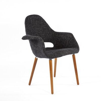 Organic Arm Chair Upholstery: Black