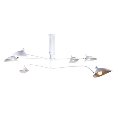 The Nicklas 6-Light Shaded Chandelier Finish: White