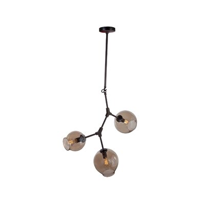 Packhusgrand 3-Light Geometric Pendant Finish: Black