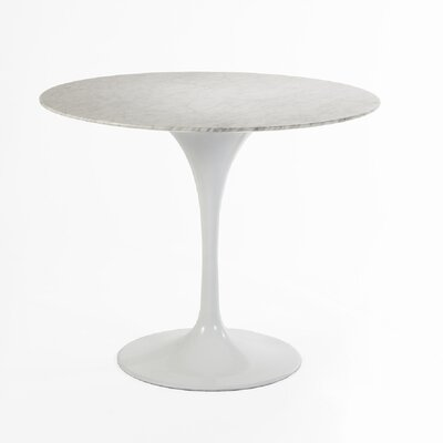 Marble Dining Table Size: 42 L x 42 W