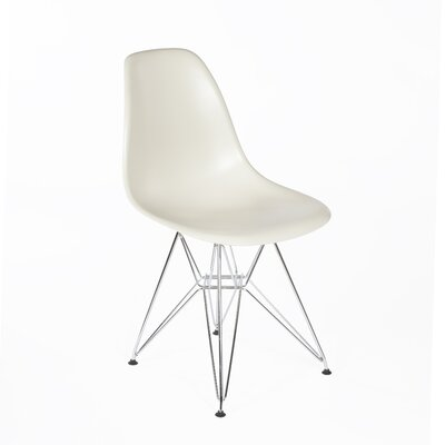 Side Chair Finish: Chrome, Color: Almond