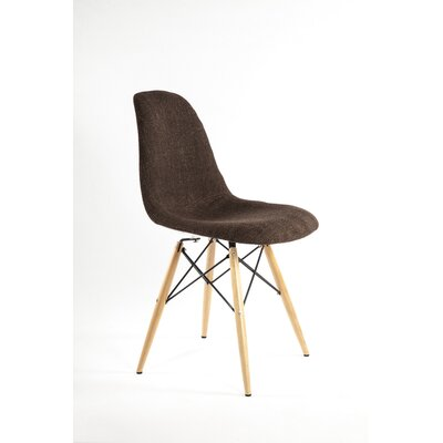 The Ansgar Side Chair Upholstery: Chocolate