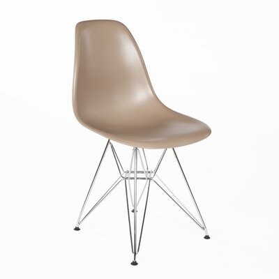 Side Chair Finish: Chrome, Color: Brown