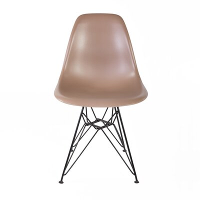 Side Chair Color: Brown, Finish: Black