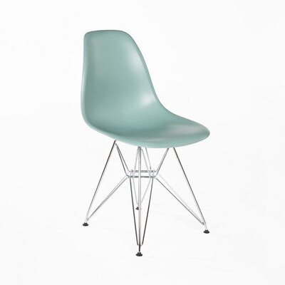 Side Chair Finish: Chrome, Color: Green