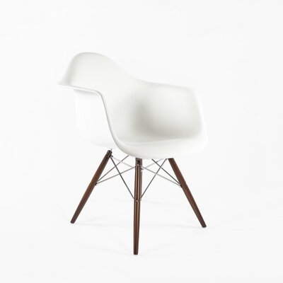 The Mid-Century Eiffel Armchair Color: White