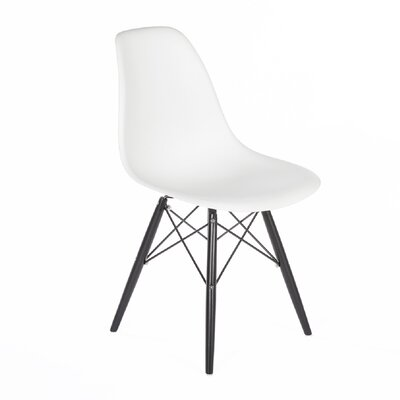 Side Chair Finish: Black, Color: White