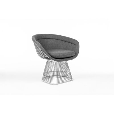 The Pella Papasan Chair Upholstery: Dark Gray