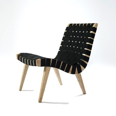 The Jens Lounge Chair Upholstery: Black