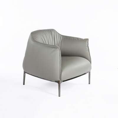 The Palermo Barrel Chair Color: Light Gray