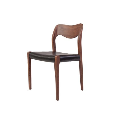 The Pobler Genuine Leather Upholstered Dining Chair
