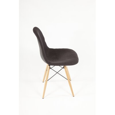 The Ansgar Side Chair Upholstery: Black