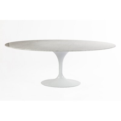 Marble Tulip Dining Table Size: 28.75