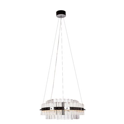Crystalo 1-Light Drum Chandelier
