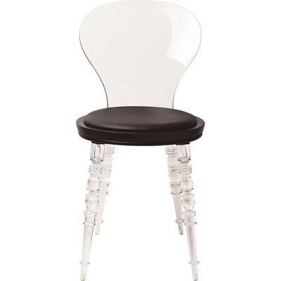 Transparent Johan Side Chair Upholstery: Black