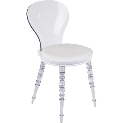 Transparent Johan Side Chair Upholstery: White