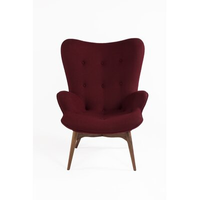 The Teddy Bear Armchair Upholstery: Burgundy