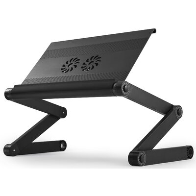 Avery 24 H x 18 Adjustable Laptop Stand Finish: Black