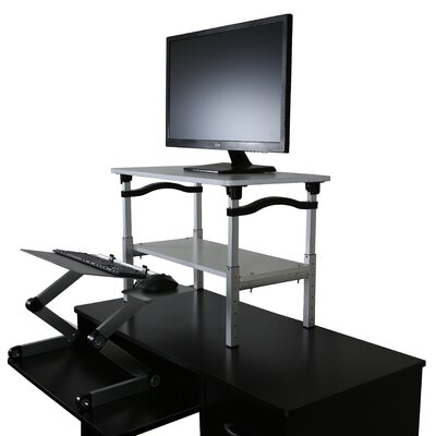 LIFT 20 H x 26.5 W Standing Desk Conversion Unit Finish: Silver