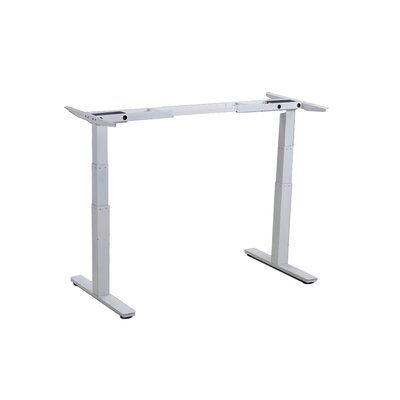 Rise Up 26 H x 42.3 W Desk Base Finish: White