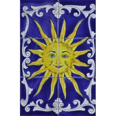 18 x 12 9 Piece Decorative Sunny Shine Tile Set