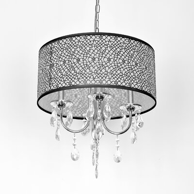 Darshan 4-Light Crystal Chandelier